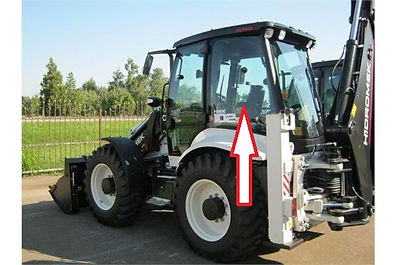 Стекло для экскаватора погрузчик HIDROMEK 102S| Стекло кузовное левое заднее  HIDROMEK 102S