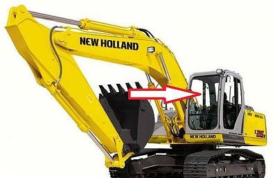Стекло экскаватор гусеничный New Holland SK 250(KOBELCO) | стекло лобовоеверхнее(триплекс)