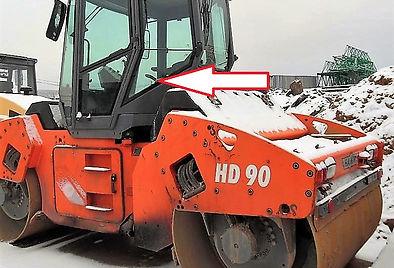 Стекло кузовное левое нижнее каток Hamm HD 90 , Стекло кузовное левое нижнее каток Hamm HD 110, Стекло кузовное левое нижнее (закаленное)