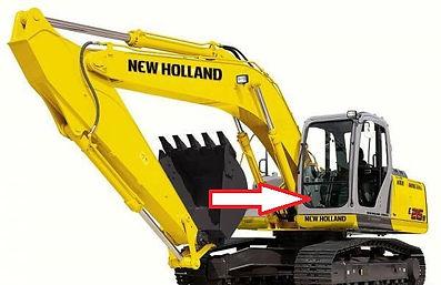 Стекло экскаватор гусеничный New Holland SK 250(KOBELCO) | стекло лобовоенижнее(закалённое) New Holland E 215 B
