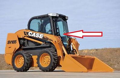 Стекло для мини-погрузчика CASE SV 250V CASE SV 250C CASE SR 130 CASE SR150 CASE SR175 CASE SR185 CASE SR220 CASE SR250 CASE SV 300 CASE 410 Series3 стекло дверь   case sv185 стекло 84344565  