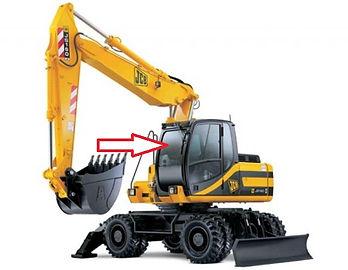 Стекло для экскаватора JCB JS 160 JCB JS180 JCB JS200 JCB JS 220 JCB JS330 лобовое верхнее   333/J3882  333/E2588  333J3882  333E2588