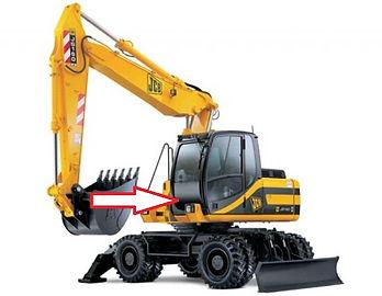Стекло для экскаватора JCB JS 160 JCB JS180 JCB JS200 JCB JS 220 JCB JS330 лобовое нижнее   333/E2609  333/J3878  334/P0606  333E2609  333J3878  334P0606  