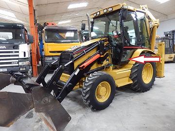 Стекло для экскаватора погрузчика Caterpillar 428 D Стекло для экскаватора погрузчика Caterpillar 432D  стекло дверное (кузовное) нижнее левое