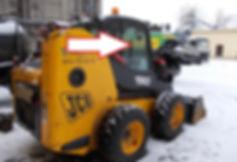 Стекло для мини-погрузчика JCB Robot 190