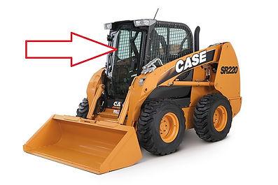 Стекло для мини-погрузчика CASE SV 250V CASE SV 250C CASE SR 130 CASE SR150 CASE SR175 CASE SR185 CASE SR220 CASE SR250 CASE SV 300 CASE 410 Series3 стекло дверь  84344565 CASE SR 220 стекло  