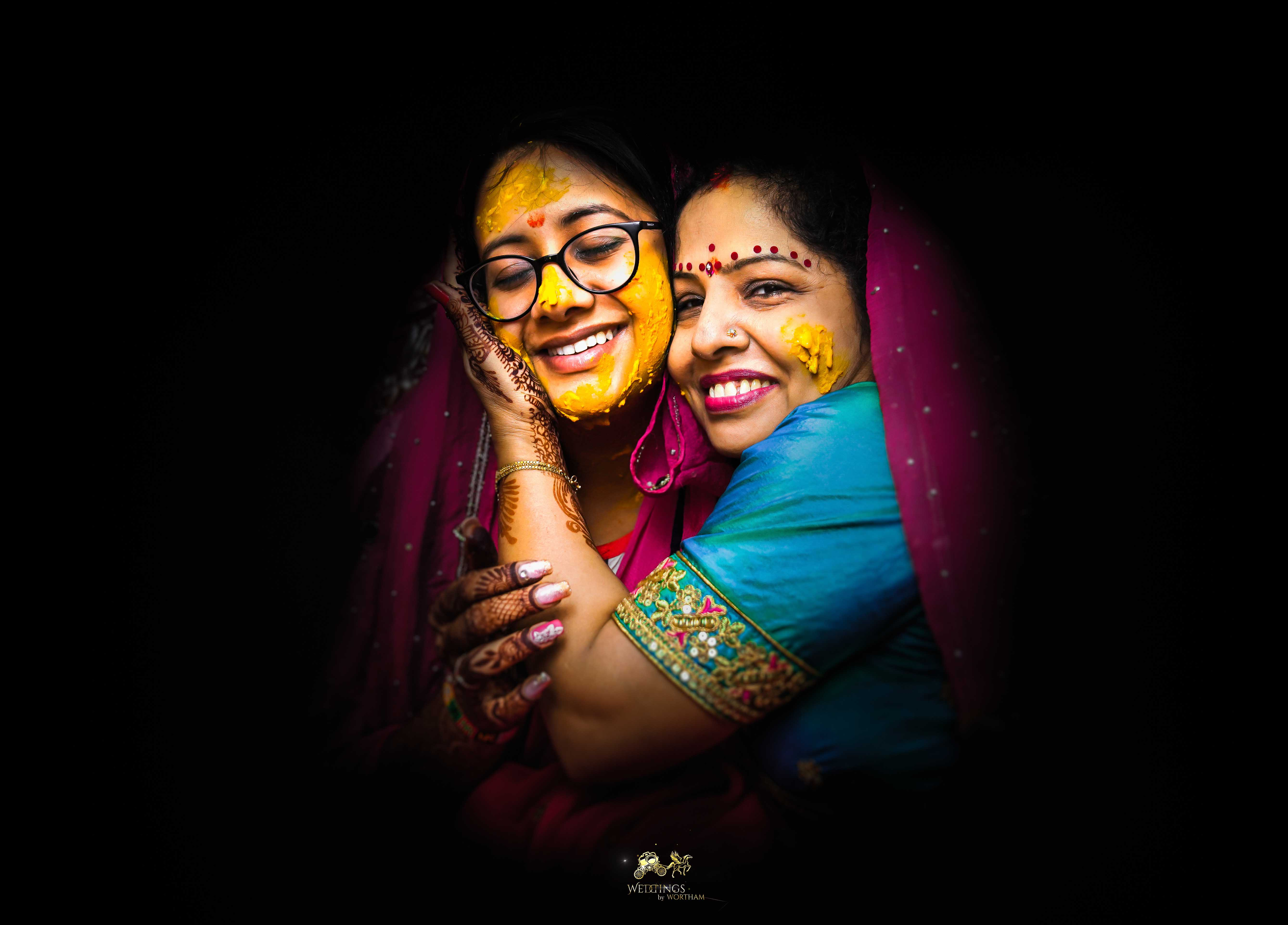 Parul with her mom