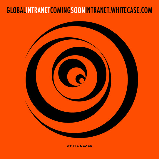 Poster for White and Case Intranet