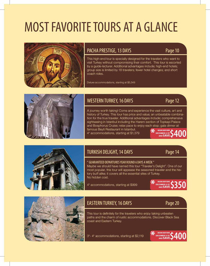 Promo Inside page for Pacha Tours Catalog