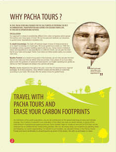 Inside page for Pacha Tours Catalog