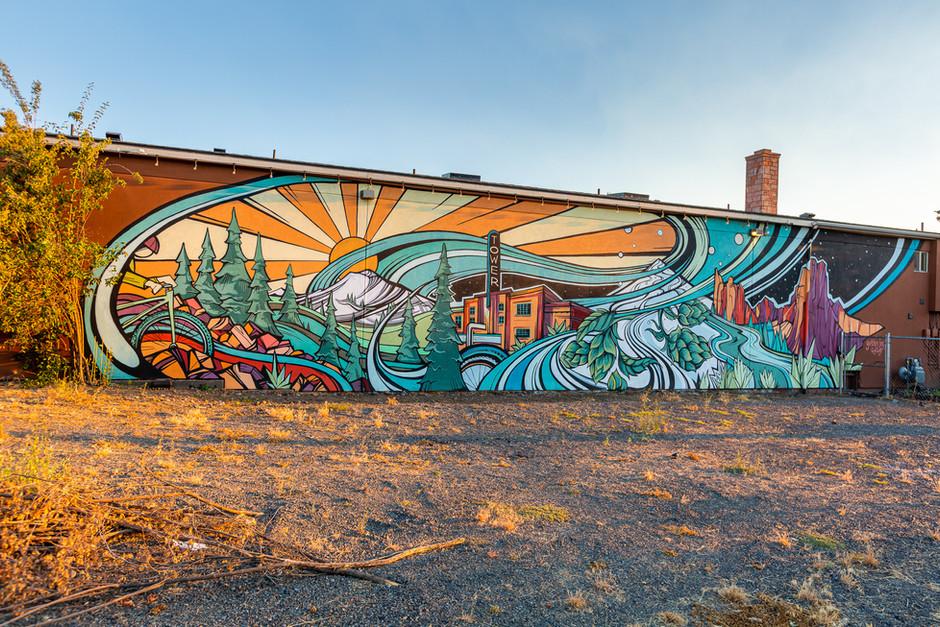 Wall Street Suites Mural