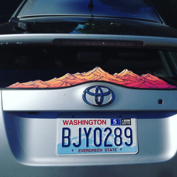 Alpenglow on a Prius