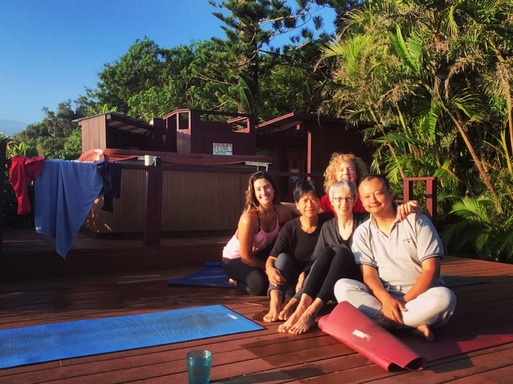 Aula de Yoga no Hawaii