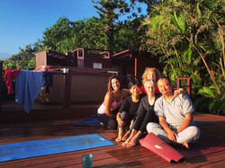 Aula de Yoga no Hawaii