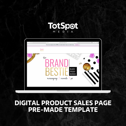 Digital Product Sales Page Template