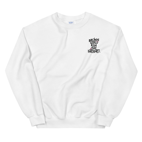 Signature Embroidered Sweatshirt (White)