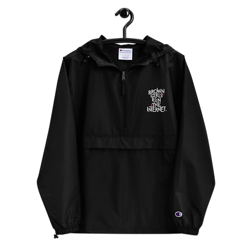 Signature Embroidered Packable Jacket (Black)