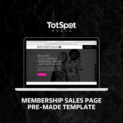 Membership Sales Page Template