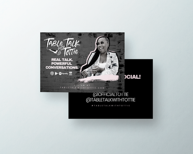 Project: Table Talk with Tottie Podcast Promotional Cards