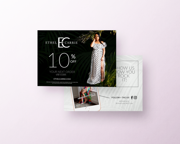 Project: Ethel x Carrie Packaging Insert Cards