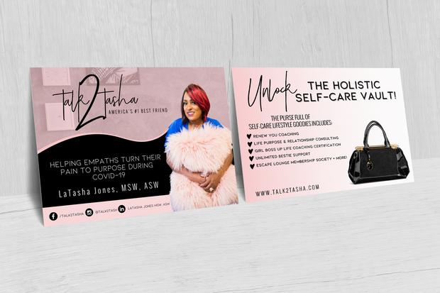 Project: LaTasha Jones/Talk 2 Tasha Promotional Cards