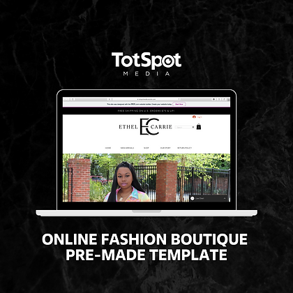 Online Fashion Boutique Website Template