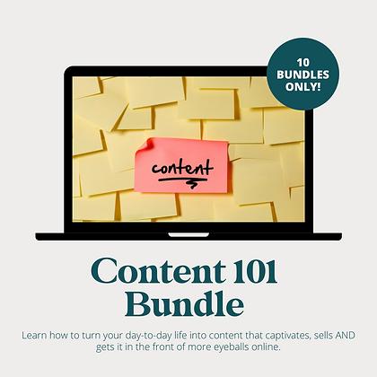 Content 101 Bundle