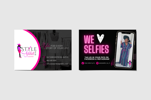 Project: Style Addict Customer Thank You Cards