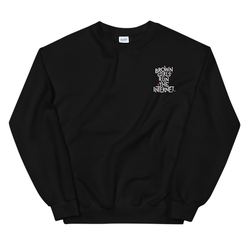 Signature Embroidered Sweatshirt (Black)