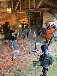 Recording our online Christmas concert
