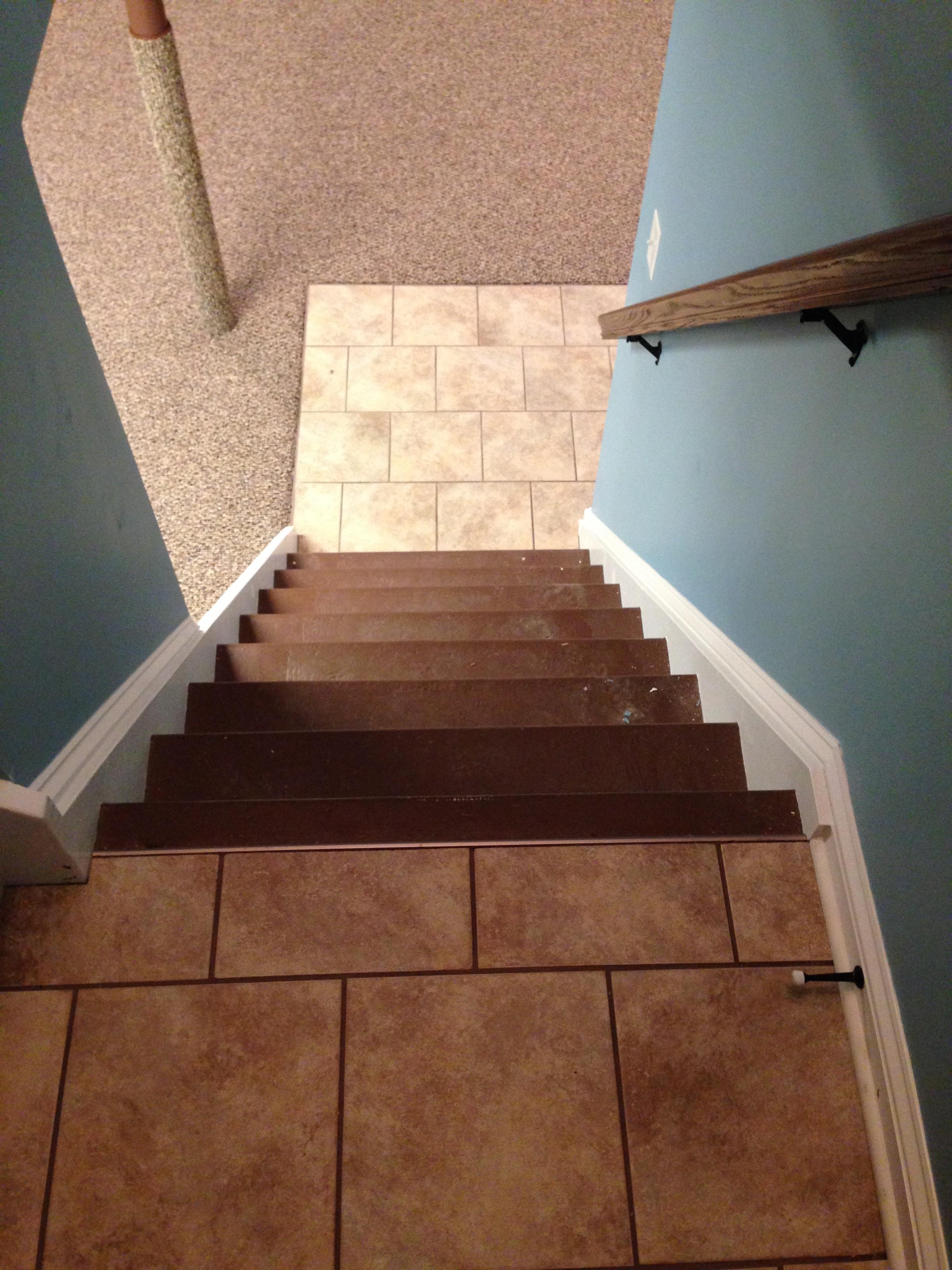 Tiles on Stair Landing