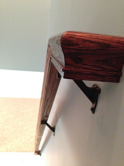 Custom wooden handrail