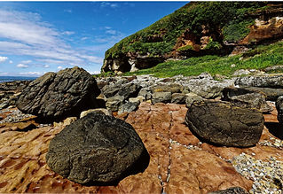 Boulders on the shore