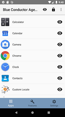 Device Conductor screenshot Apps view
