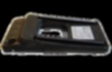 Diamondback barcode scanning sled