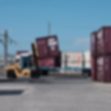 Truck loading shipping containers