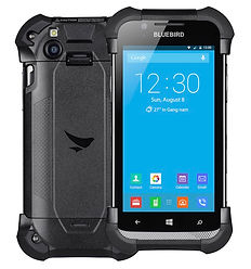 Bluebird EF500/EF500R Rugged Handheld Front and Back View