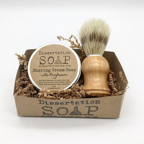 Shaving Cream Soap & Brush Set