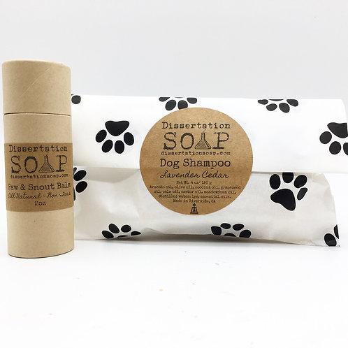 Dog Shampoo, Paw and Snout Balm Set