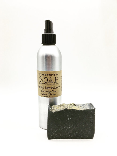Hand Sanitizer & Charcoal Soap Set