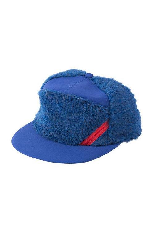 【PHINGERIN】PANEL CAP FLUFFY blue
