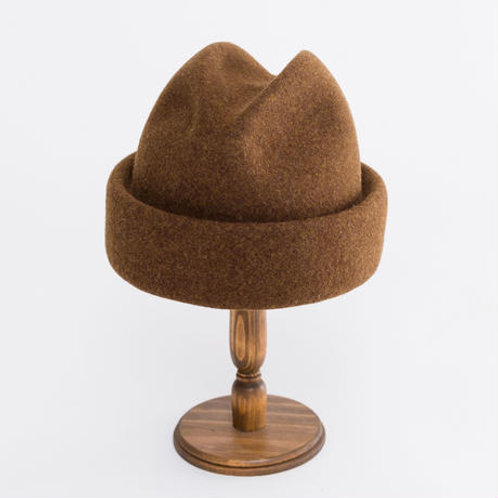 【D,ari】Felt roll hat