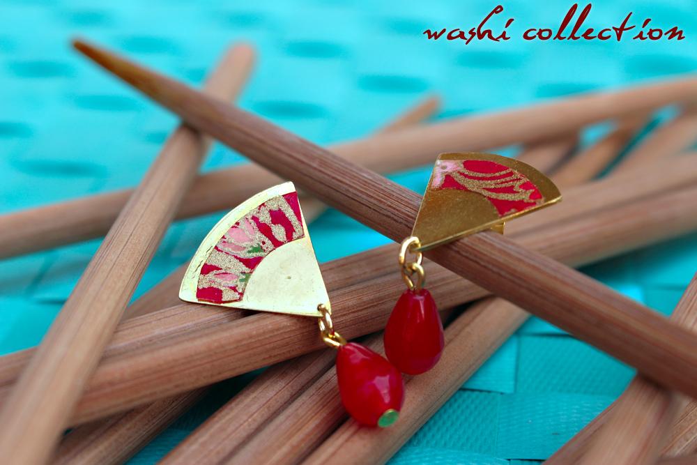 orecchini Washi rossi
