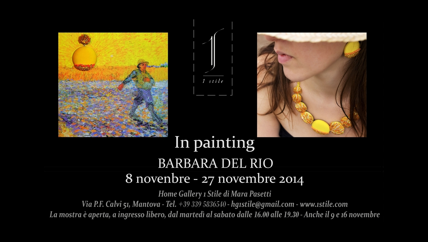 """Locandina Mostra """"IN PAINTING"""""""