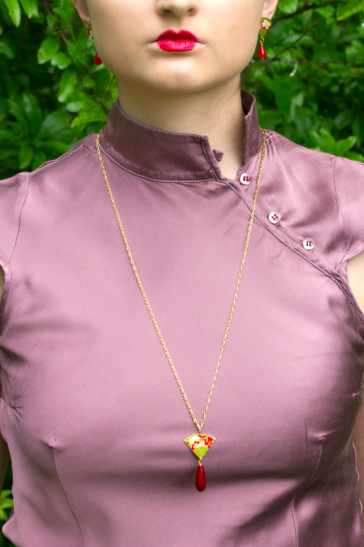 washi rosso, indossato, bdr designer