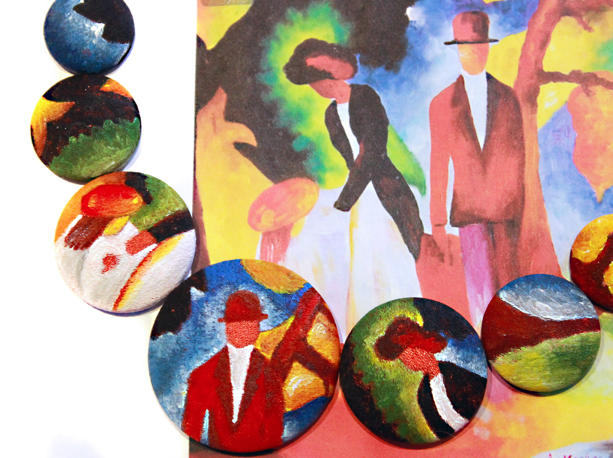 People at the Blue Lake_August Macke_collana