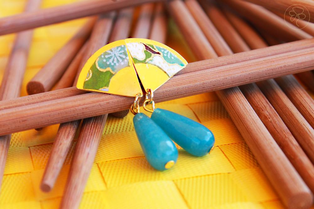 Orecchini Washi azzurri