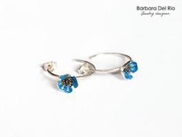 Anelle piccole Blu Elettrico
