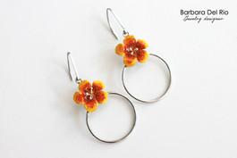 Anella Fiore Tropicale Giallo/Arancio