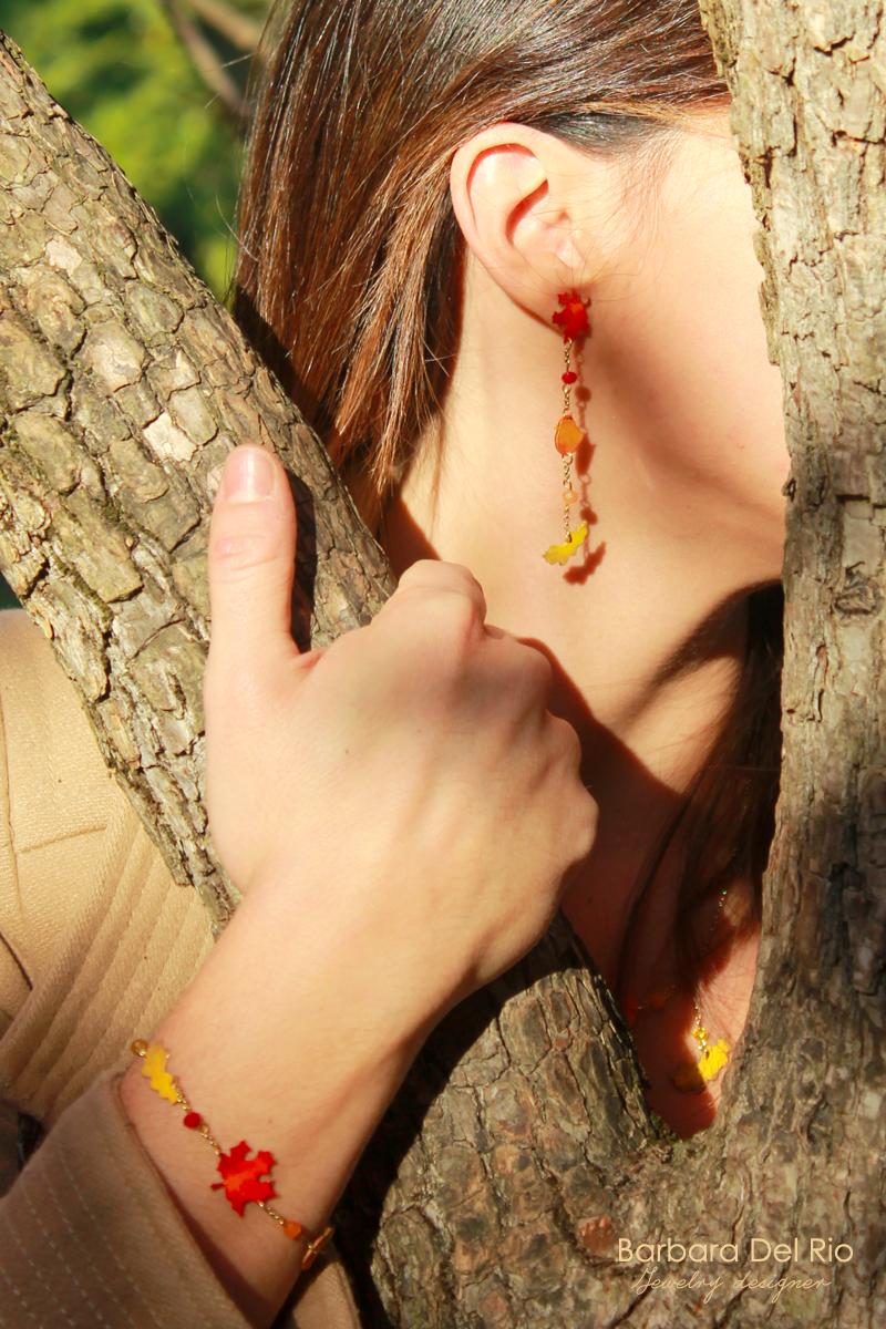 falling down, orecchini, bracciale